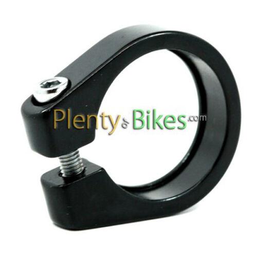 Black Alloy 27.2 Pillar Seatpost Collar Clamp Road Fixie Hybrid Bike Bicycle