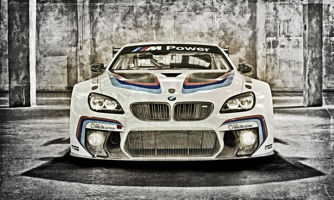 POSTER XXL POP ART BMW M6 AUTO RACING ABSTRAKT WAND POSTER 150x90