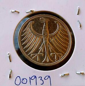 5-Mark-1951-F-Germany-Deutschland-Allemagne-Silber-silver-coin-5-DEM-1951-F