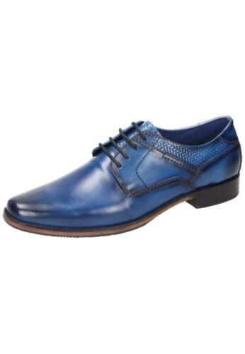 Manitu Business Chaussures Basses Cuir Chaussures Hommes Bleu 40-46 650512-5 neu16