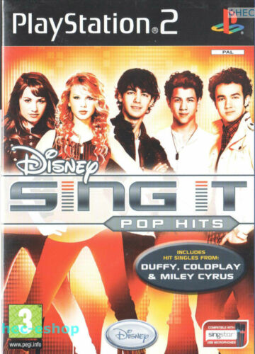 1 of 1 - Disney Sing It: Pop Hits Sony Playstation 2 PS2 3+ Music Game FAST FRRE POST