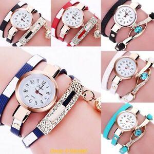 Damenuhr-Uhr-Damenarmbanduhr-Wickelarmband-Wickeluhr-Armanduhr-Frauenuhr