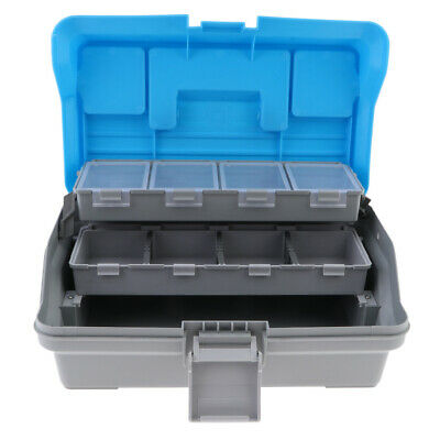 3 Layers Tackle Carry Case Storage Fishing Tray Lure Hooks Box Container