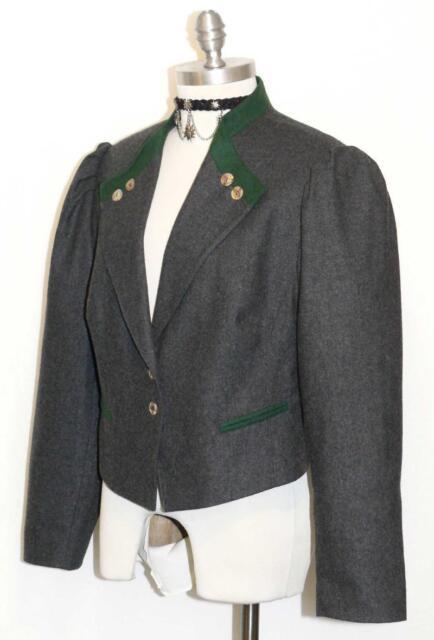 Wool Gray Women German Austria Hunting Riding Dress Suit Coat Jacket