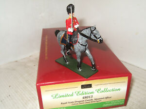 Britains 48013 Metal Figure Rsdg Officier Monté Au 1 / 32ème 54mm Standard 884101480134