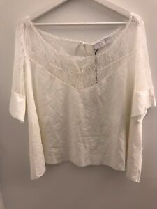 Whitespace-by-Bella-Via-Top-White-Plus-Size-1X-New-With-Tag-100-Authentic