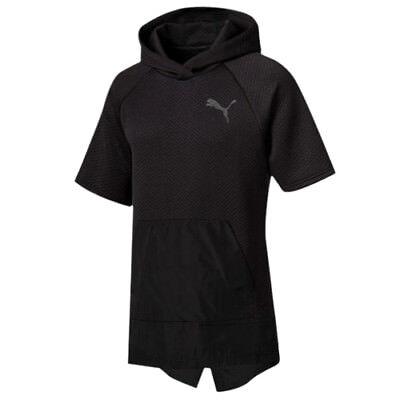Puma WinTech Mens Short Sleeved Pullover Fleeced Patterned Hoody 515665 01 A57E | eBay