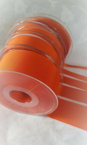Berisfords TANGO darker orange Grosgrain Ribbon 9139 6mm to 40mm