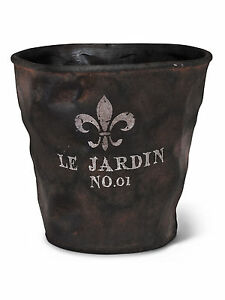 Charcoal 10 ceramic extra large french fleur de lys le for Le jardin quoi planter