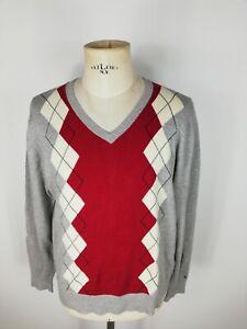 TOMMY-HILFIGER-Maglione-Cardigan-Sweater-Jumper-Pullover-Tg-L-Uomo-Man