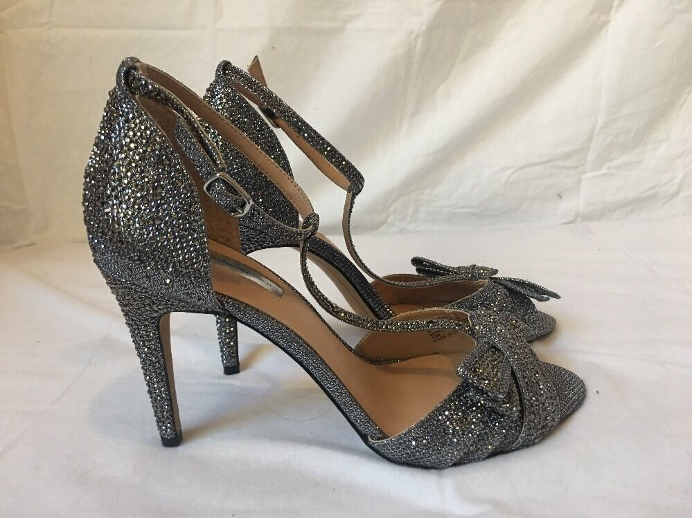 NEW INC International Concepts Risha Embellished Jewel Strappy Evening Heels 10