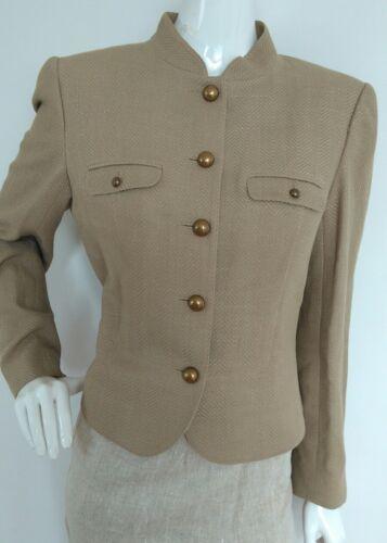 Mélange vgc Jaeger Taille Beige 16 Textured Blazer Jacket laine soie XvqqwATY