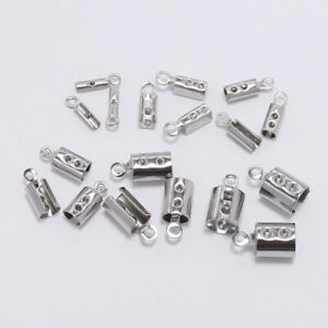 End Cap Bead Stoppers Vintage DIY Fit 2mm Leather Cords Necklace Findings 100Pcs