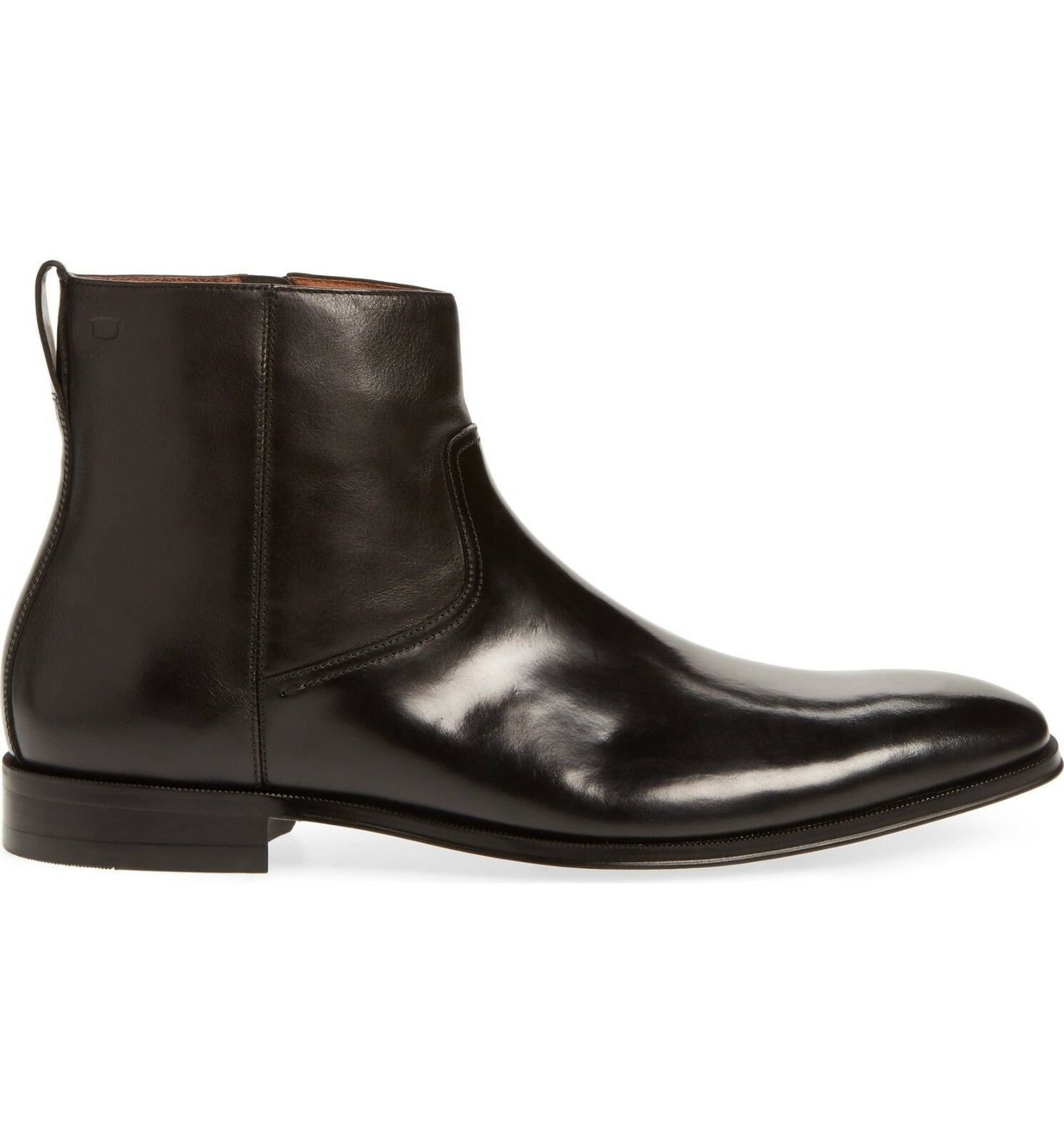 Florsheim BELFAST ZIP Uomo nero nero nero 14230-001 Leather Side Zip Up Dress stivali 925089
