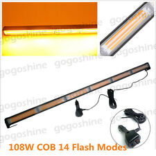 "35"" COB LED Traffic Advisor Emergency Flash Strobe Work Light Bar Warning Amber"