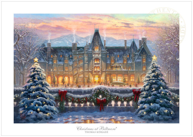 Thomas Kinkade Christmas.Thomas Kinkade Christmas At Biltmore House 24 X 36 S N Limited Edition Paper