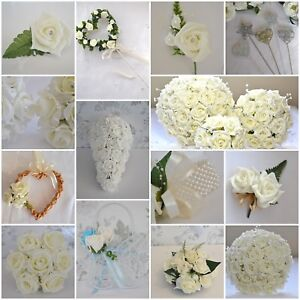 Image Is Loading Wedding Bouquet Posy Flowers Onhole Corsage For Guest