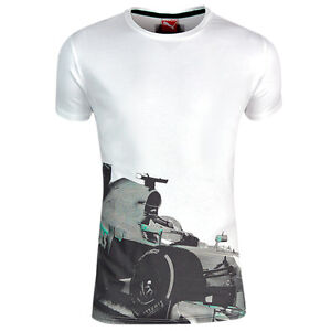 Puma-F1-Mercedes-Benz-MAMGP-Motorsport-Mens-Tee-Top-T-Shirt-White-568205-05-DD57