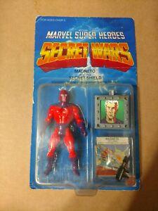 1984 Mattel Marvel Super Héros Secret Wars Magneto Unpunched Clear Bubble Moc