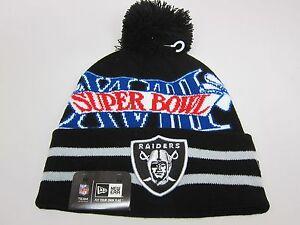 a739d171637b00 New Era NFL OAKLAND RAIDERS SUPERBOWL XVIII KNIT WINTER HAT [BLACK ...