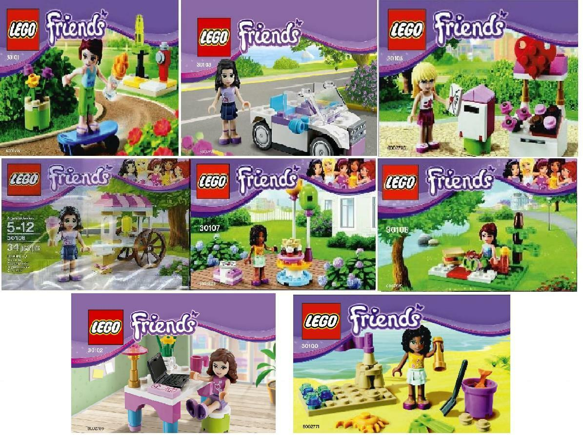Lego Friends Exklusivsets 2013 30100 30101 30102 30103 30105 30106 30107 30108