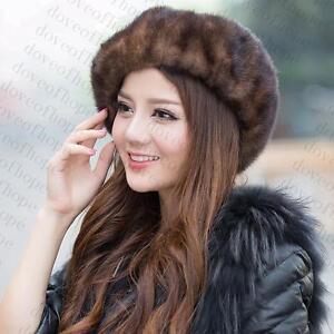 Winter-Women-Real-New-Mink-Fur-Hat-Cap-Headgear-Beanie-Beret-QS-00034-1