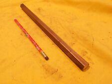 58 Brass Hex Rod Machine Shop Tool Die Stock Bar 58 Od X 12 Oal