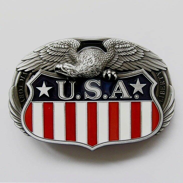 USA Adler Gürtelschnalle Emblem Amerika Flagge Buckle Banner *204