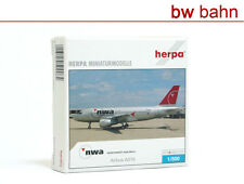 Herpa NG 1:500 509084 Flugzeug Northwest Airlines Airbus A319 Metall.Modell Neu