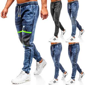 Jeans Jogger Freizeithose Fitness Trainingshose Herren