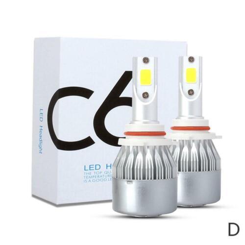 2pcs car Headlight White Led Lamp Replace For 6500k Bulb Cob 9005 9006 H7 9012