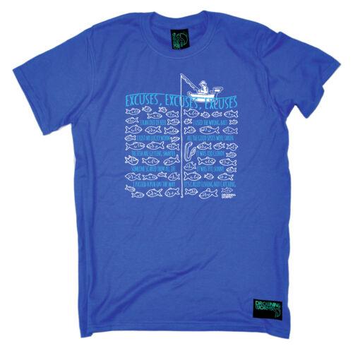 Pesca Camiseta Divertido Novedad para hombre Tee Tshirt-Pesca excusas