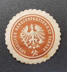 Siegelmarke-Vignette-KONIGLICHE-BERGINSPEKTION-II-ZU-ZABRZE-8144-3