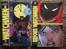 WATCHMEN + BEFORE WATCHMEN: MINUTE MEN + SILK SPECTRE 2 HC's DC Comics SEALED