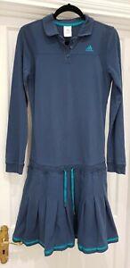 à manches Adidas Uk 12 à rayures Robe bleues longues QdsthCrxB