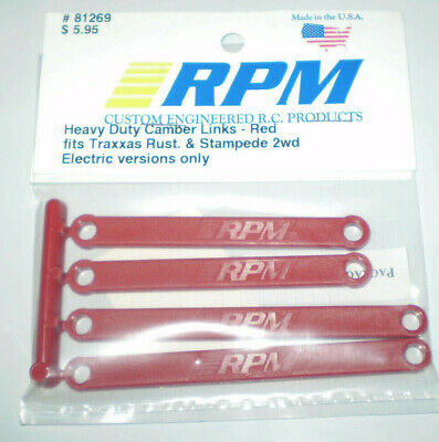 Red//2WD Stampede//Rustler RPM81269 4 RPM 1//10 Scale Heavy Duty Camber Links