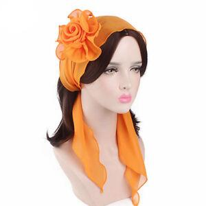 bdddf5e8a5975 Women s Headbands Chiffon Flower Head Wrap Bandanas Head Scarf Multi ...