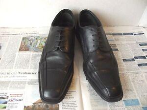 Details zu Claudio Conti LEDER Herrenschuhe 43 Business Halbschuhe Schuhe Herren schwarz