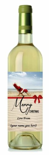 C7 12.7cm x 8.4cm Set of 8 Personalised Christmas Wine Labels
