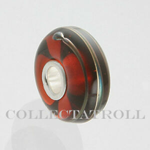 ***SALE*** Authentic Trollbeads Golden Thread Bead-brown