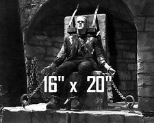 "Boris Karloff~Frankenstein~Chains~Horror~Photo~ Poster 16"" x  20"""