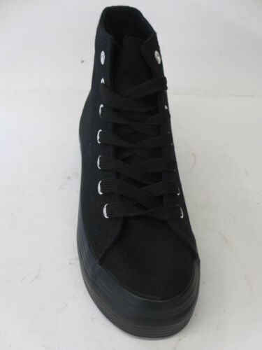 SALE F50063 LADIES WOMEN CASUAL TRAINERS THICK SOLE BASEBALL BOOT CANVAS SIZE