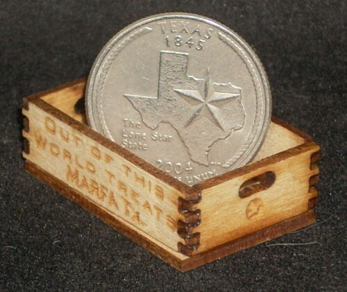 Dollhouse Miniature Out of This World Marfa Produce Crate 1:12 Scale Texas