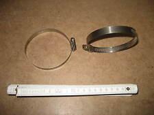 2 x 48 - 95 mm Edelstahl Schelle Bandschelle ca 13 mm breit Medizin Technik 109