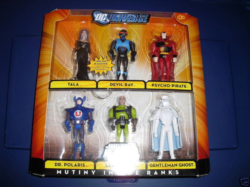 JUSTICE LEAGUE  MUTINY IN THE RANKS 6 FIGURES SET