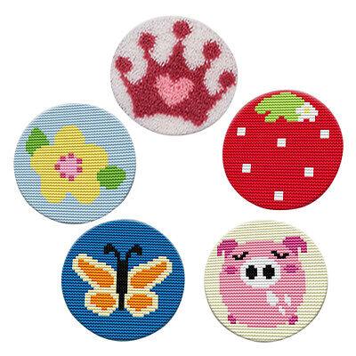 Round Latch Hook Rug Making Kits For Beginners Handmade Cushion Carpet Mat Ebay