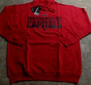 Washington-Capitals-Silhouette-Pullover-Hoodie-2XL-Red-Vibrant-Colors-NHL