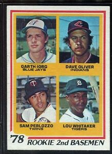 Details About Baseball Card 1978 Topps Lou Whitaker Detroit Tigers 704 Rookie