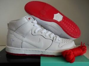 huge discount 7dfe8 4b08f Image is loading NIKE-SB-ZOOM-DUNK-HIGH-PRO-QS-WHITE-