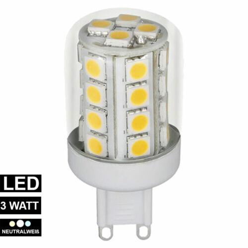 G9 LED Leuchtmittel 3 Watt warmweiß 3000 Kelvin 330 Lumen Strahler Lampe weiß